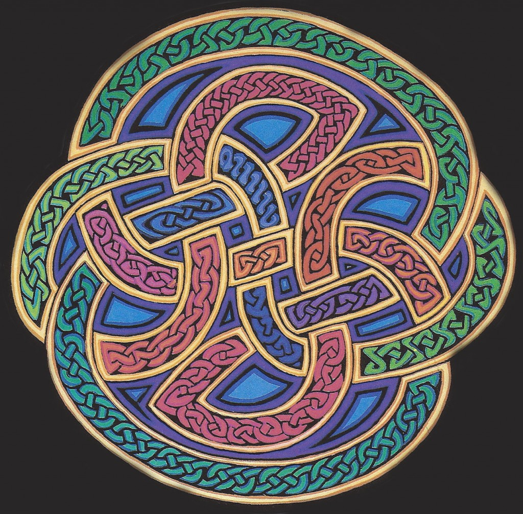 Picture colored knot